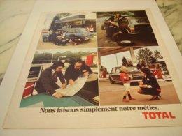 ANCIENNE PUBLICITE NOTRE METIER TOTAL 1975 - Other