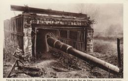 Rare Cpa Pièce De Marine De 240 Ravin Des Grands Houyers Près De Vaux - 1914-18