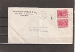 Costa Rica AIRMAIL COVER TO Switzerland 1938 - Costa Rica
