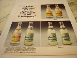 ANCIENNE PUBLICITE SCHWEPPES ET UN  SCHWEPPES 1975 - Publicités
