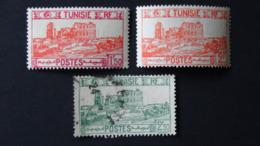 Tunisia - 1939/40/41 - Mi:TN 203-4 - Yt:TN 216-7**MNH + Mi:TN 206 - Yt:TN 219 O - Look Scan - Tunesien (1888-1955)
