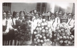 Photographie Circa 1940-1950  - Colo Colonie De Vacances De Jeunes Filles à Brando Couronnement De ND De Lavasina - Luoghi