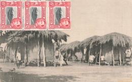 Ouganda Communal Granary Teso Tribe Northern Uganda Raphael Tuck Postcard + Cachet 1948 RAF Eastleigh - Ouganda