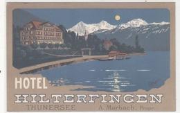 Hotel Hilterfingen - Sign. Pellegrini - 1910            (90901) - Publicidad
