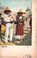Mexique Mexico Palleros Folklore + Timbre Cachet 1912 - Mexique
