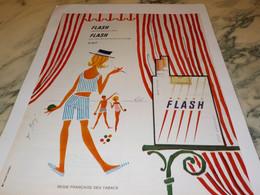 ANCIENNE PUBLICITE CIGARETTE FLASH 1965 - Publicités