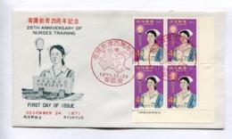 25TH ANNIVERSARY OF NURSES TRAINING. RYUKYU ISLANDS 1971 ENVELOPE FIRST DAY OF ISSUE -LILHU - Ryukyu Islands