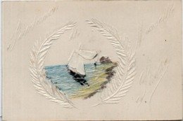 CPA Peinte Et Relief Main - Marine - Marseille (116523) - Fantaisies