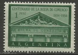 Argentina - 1954 Stock Exchange MH *   Sc 625 - Argentina