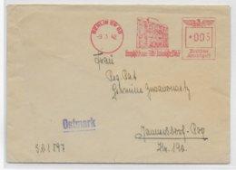 REICH - 1942 - EMA (GRAPHIKHAUS) Sur LETTRE De BERLIN - Marcofilia - EMA ( Maquina De Huellas A Franquear)