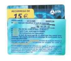 TC MOBILAND 15 € US. 01-03-2005 - Andorra