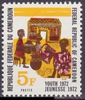 Timbre Neuf ** N° 518(Yvert) Cameroun 1972 - Fête De La Jeunesse - Camerun (1960-...)
