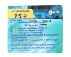 TC MOBILAND 15 € US. 01-12-2005 - Andorra