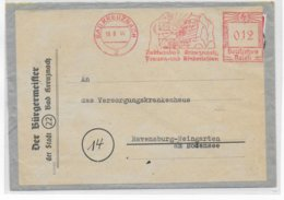 REICH - 1944 - EMA (TOURISME) Sur LETTRE REUTILISEE De BAD KREUZNACH - Alemania