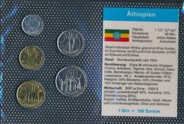 Äthiopien 1977 Stempelglanz Kursmünzen Stgl./unzirkuliert 1977 1 Santim Bis 50 Santim (9030265 - Aethiopien