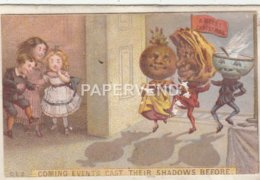Greeting Card Coming Events Cast Their Shadow Folder Egc752 - Old Paper