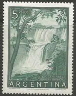 Argentina - 1955 Iguacu Falls 5p MNH *   Sc 639a - Argentina