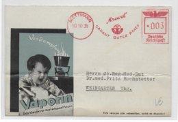 REICH - 1938 - EMA Sur CARTE PUBLICITAIRE (ENFANCE) De METTMANN - Germania