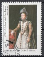"""Guinea Bissau 1984 Sc. 557 """"Infanta Isabel Clara Eugenia"""" Quadro Dipinto Claudio Coello Paintings Tableaux CTO - Guinea-Bissau"""