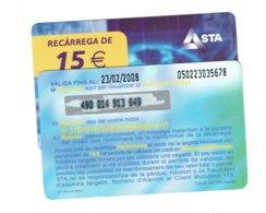 TC MOBILAND 15 € US. 23-2-2008 - Andorra