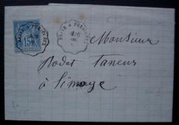 Saint Sernin De L'Arche Corrèze 1884 A. Selve Fabrique De Socques & Sabots, Convoyeur Brive à Périgueux - Marcofilie (Brieven)