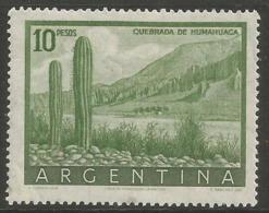 Argentina - 1955 Humahuaca 10p MNH *   Sc 640 - Argentina