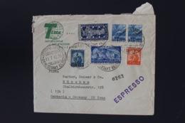 Italy Espresso Cover 1949  Bolzano -> Munchen  Mixed Stamps Sa 597 + 599 - 6. 1946-.. Repubblica