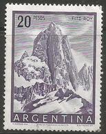 Argentina - 1955 Mount Fitzroy 20p MNH *   Sc 641 - Argentina