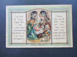 Motiv AK Weihnachten Um 1910 Gesegnete Weihnachten! Jesuskind Mit Maria Und Joseph Und Den Hirten U. Engel - Noël