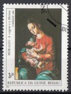 """Guinea Bissau 1984 Sc. 553 """"Madonna With The Child"""" Quadro Dipinto L. De Morales CTO Manierismo Paintings Tableaux - Guinea-Bissau"""