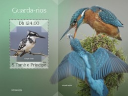 SAO TOME - 2019 - Kingfishers - Perf Souv Sheet - M N H - Sao Tome And Principe