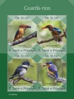 SAO TOME - 2019 - Kingfishers - Perf 4v Sheet - M N H - Sao Tome And Principe
