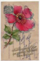5569 - Cp Fantaisie En Galalithe - Fleur ( églantine ) - - Cartoline