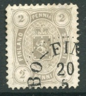 FINLAND 1882 2 P. Pearl Grey Perforated 12½ On Medium Paper Used.  Michel 12 Bya - 1856-1917 Russian Government