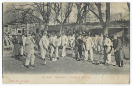 CPA 38 Isère Grenoble Etat Moyen Rare Infanterie Militaire Caserne Bizanet Infanterie Corvée De Quartier 1908 Courtin - Grenoble