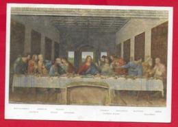 CARTOLINA VG ITALIA - L'Ultima Cena - LEONARDO DA VINCI - Refettorio Di S. Maria Delle Grazie MILANO - 10 X 15 - 1964 - Pittura & Quadri