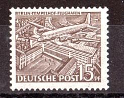 Berlin - 1949 - N° 34 - Neuf ** - Aéroport De Tempelhof - Berlin (West)