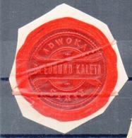 Poland Ukraine Lawyer Adwokat Edmund Kaleta  Stryj  Wafer Siegelmarke Vignette - ....-1919 Provisional Government