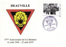 Deauville 75 Anniversaire Liberation Sur CP - France