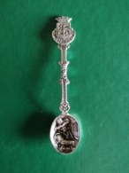 Vianden , Ancienne Petite Cuillère De Collection En Argent -  Rare - Obj. 'Herinnering Van'