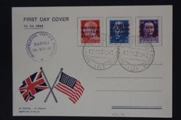 Italy First Day Cover  Sa 10, 12 , 43  Inaugurazione Servizio Postale  Napoli 10-12-1943 - Anglo-Amerik. Bez.: Naples