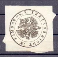 Poland Ukraine  District Court Sambor  Wafer Siegelmarke Vignette - ....-1919 Provisional Government