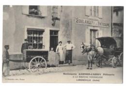 LANDREVILLE: Boulangerie Garnier Carrey  Attelage  Léger Défaut Angle Sup Gauche - France