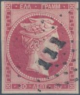 GREECE - 1862, Mi 22, Large Hermes, 80 Lept - Oblitérés