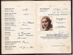 1931 - CARTE D'IDENTITÉ INTERNATIONALE D'ÉTUDIANT Trilingue - Documents Historiques