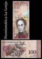 Venezuela 100 Bolivares Simón Bolívar 2015 Pick 93j SC UNC - Venezuela