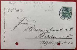 1903 CARTE POSTALE COTTBUS PAKULLA BERLIN CARTE CACHET OBLITERATION POSTKARTE - Cartas