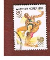 COREA  DEL SUD (SOUTH KOREA)   - SG 1784 -     1987   OLYMPIC GAMES: WRESTLING     - USED ° - Korea (Süd-)