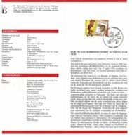 Belg. Postfolder 11 - 1988 OBP 2302 - Lede 8-10-1988  (2 Scans) Jeugdfilatelie - Robbedoes - Documentos Del Correo