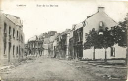 BATTICE - Rue De La Station - Ruines Guerre 1914-1918 - Oblitération De 1919 - Aubel